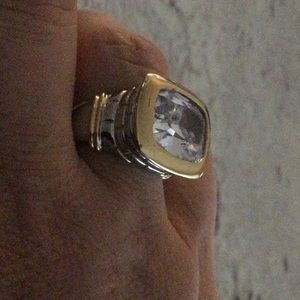 Silver and gold (stainless steel) statement ring